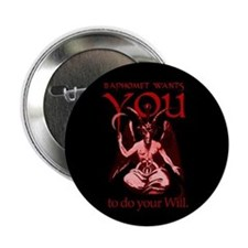 Baphomet Wants You Button