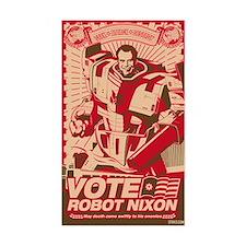 all hail robot nixon Rectangle Decal