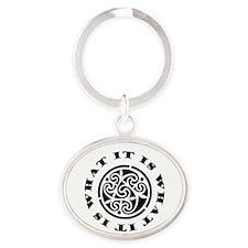 It Is What It Is Oval Keychain