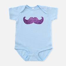 Purple Bling Mustache (Faux Glitter) Infant Bodysu