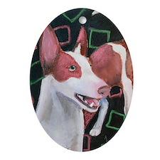 Rhett an Ibizan Hound Oval Ornament