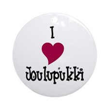 I Love Joulupukki Ceramic Ornament