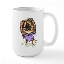 Plum Cute Pomeranian Mug