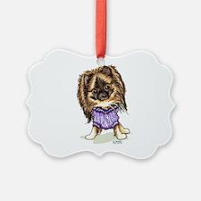 Plum Cute Pomeranian Ornament