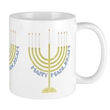Happy Hanukkah Menorah Mug