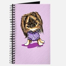 Plum Cute Pomeranian Journal