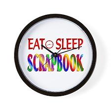 Eat Sleep Scrapbook Wall Clock