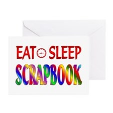 Eat Sleep Scrapbook Greeting Cards (Pk of 10)