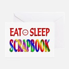 Eat Sleep Scrapbook Greeting Cards (Pk of 20)