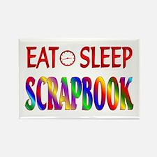 Eat Sleep Scrapbook Rectangle Magnet