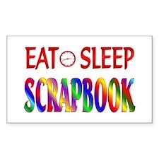 Eat Sleep Scrapbook Decal