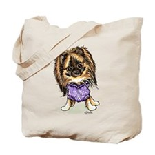 Plum Cute Pomeranian Tote Bag