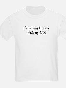 Paisley Girl Kids T-Shirt