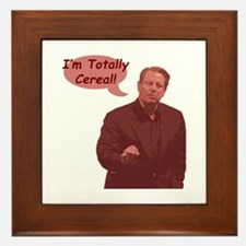 Al Gore - I'm Totally Cereal! Framed Tile