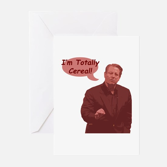 Al Gore - I'm Totally Cereal! Greeting Cards (Pack