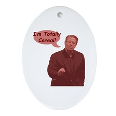 Al Gore - I'm Totally Cereal! Oval Ornament
