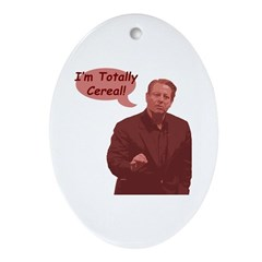 Al Gore - I'm Totally Cereal! Oval Ornament