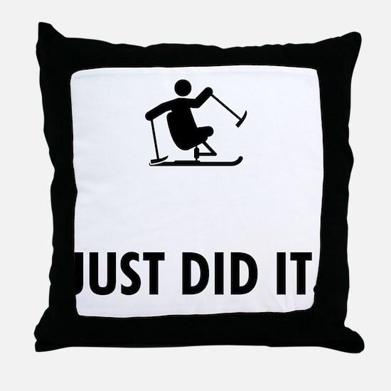 Adaptive Skiing Throw Pillow