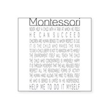 "MontessoriQuotes.png Square Sticker 3"" x 3"""