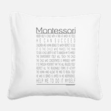 MontessoriQuotes.png Square Canvas Pillow