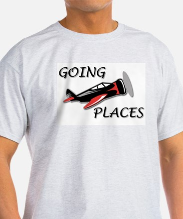 Airplanes Going Places! Ash Grey T-Shirt