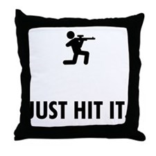Airsofting Throw Pillow