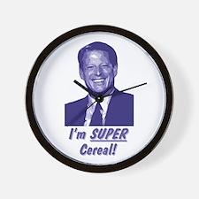 Al Gore - I'm Super Cereal! Wall Clock