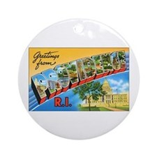 Providence Rhode Island Greetings Ornament (Round)