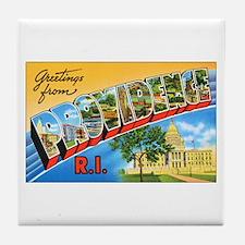 Providence Rhode Island Greetings Tile Coaster