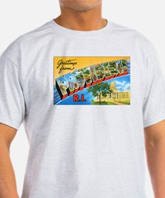 Providence Rhode Island Greetings (Front) T-Shirt