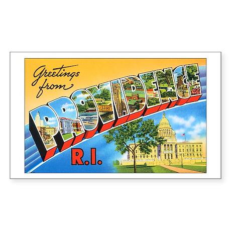Providence Rhode Island Greetings Sticker (Rectang