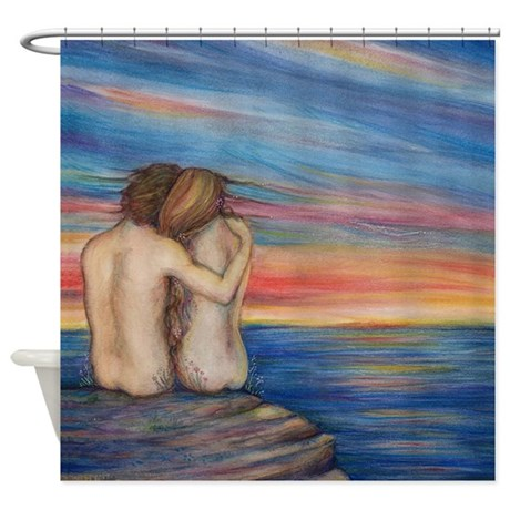 Ocean Lovers Art Shower Curtain