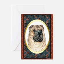 Chinese Shar Pei Designer Greeting Cards (Package