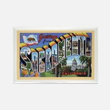 Sacramento California Greetings Rectangle Magnet (