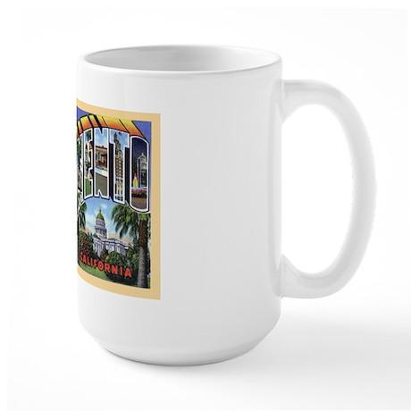 Sacramento California Greetings Large Mug