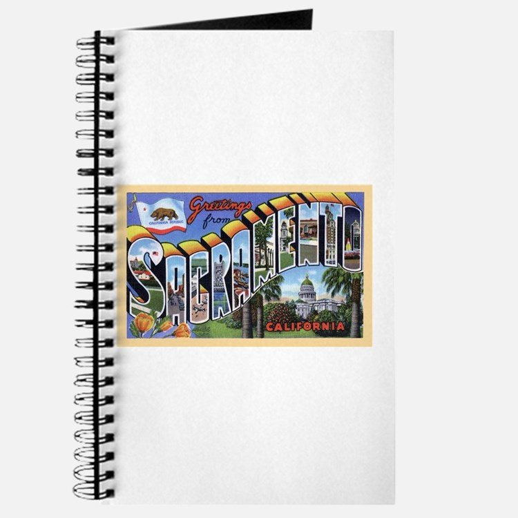 Sacramento California Greetings Journal