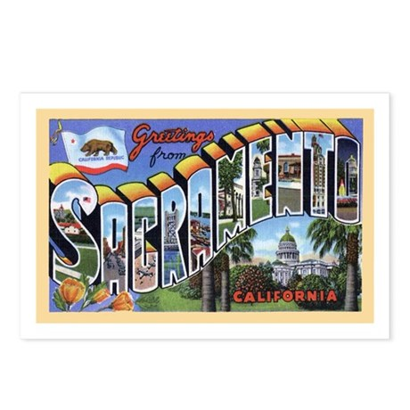 Sacramento California Greetings Postcards (Package