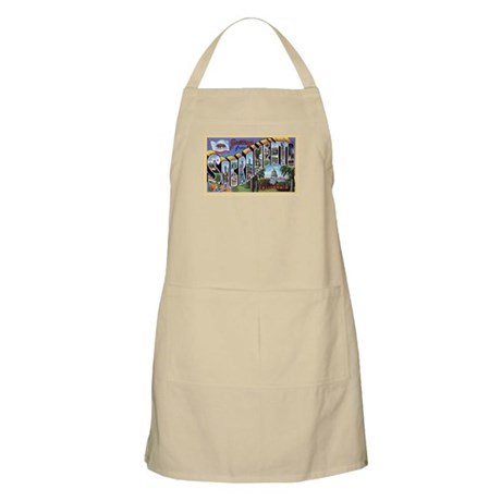Sacramento California Greetings BBQ Apron