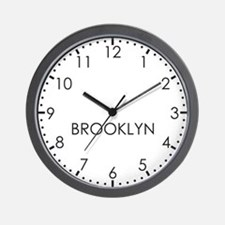 BROOKLYN Modern Newsroom Wall Clock