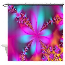 Fractal Flower Shower Curtain