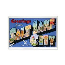 Salt Lake City Utah Greetings Rectangle Magnet