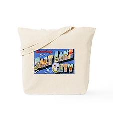 Salt Lake City Utah Greetings Tote Bag