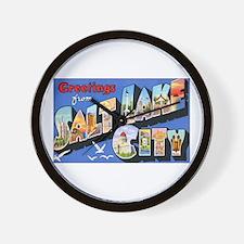 Salt Lake City Utah Greetings Wall Clock