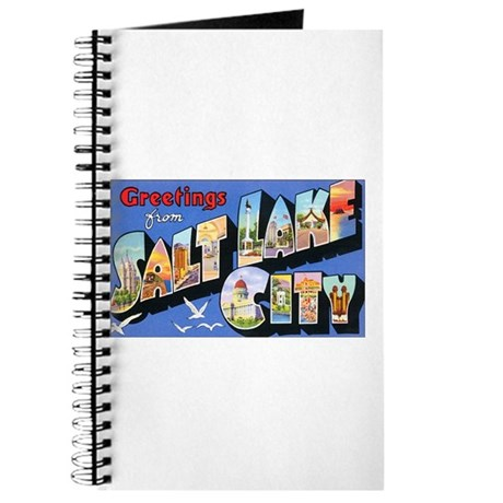 Salt Lake City Utah Greetings Journal