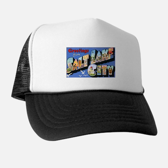 Salt Lake City Utah Greetings Trucker Hat
