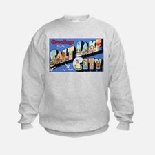 Salt Lake City Utah Greetings (Front) Sweatshirt