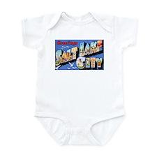 Salt Lake City Utah Greetings Infant Bodysuit