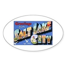 Salt Lake City Utah Greetings Oval Decal
