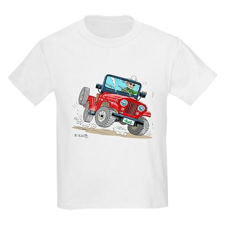 Willys-Kaiser CJ5 jeep Kids Light T-Shirt