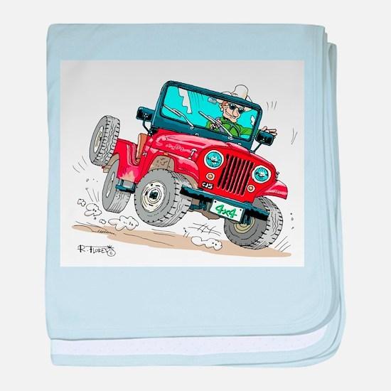 Willys-Kaiser CJ5 jeep baby blanket